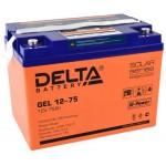 AGM аккумулятор Delta GEL 12-75